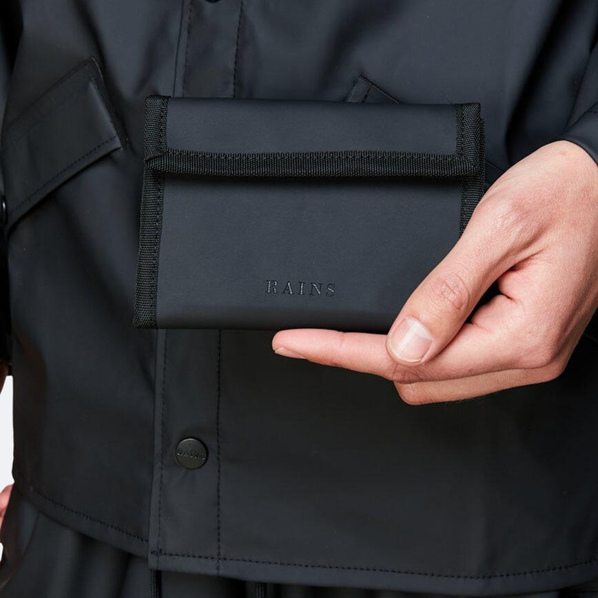 Rains Velcro Wallet - Black