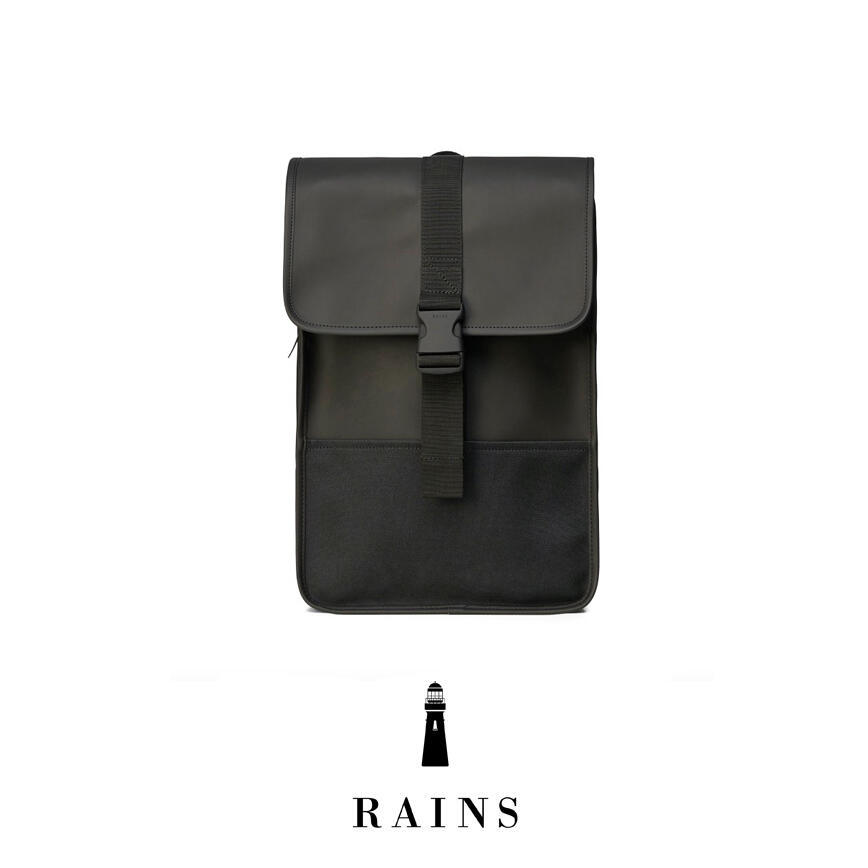 Rains Buckle Backpack Mini - Black