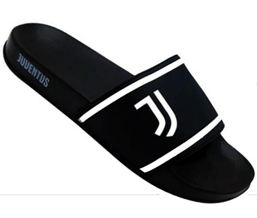 Ciabatte a Fascia Juventus Nuovo Logo Calcio Serie A Bianco-Nero Juve pantofole