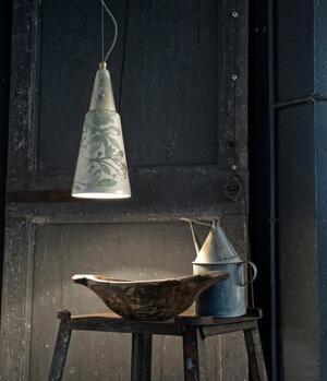 Lampada a Sospensione Vague C1411 di Ferroluce in Ceramica e Ottone, Varie Finiture - Offerta di Mondo Luce 24