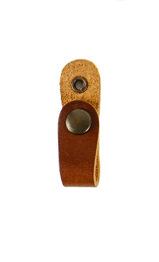 Balza per colombacci in cuoio chiusura con bottone automatico