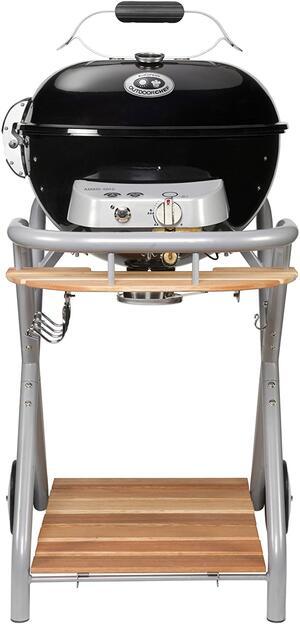 Barbecue Outdoorchef Ambri 480 G Grill Kettle Nero, Argento+Pietra Refrattaria Originale in Omaggio