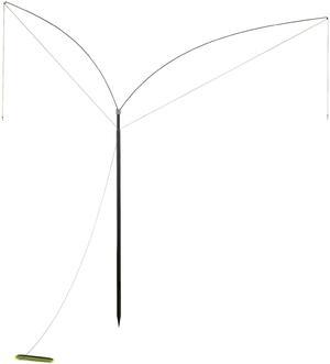 Paletto telescopico per zimbello con due  bacchette in acciaio da cm.100