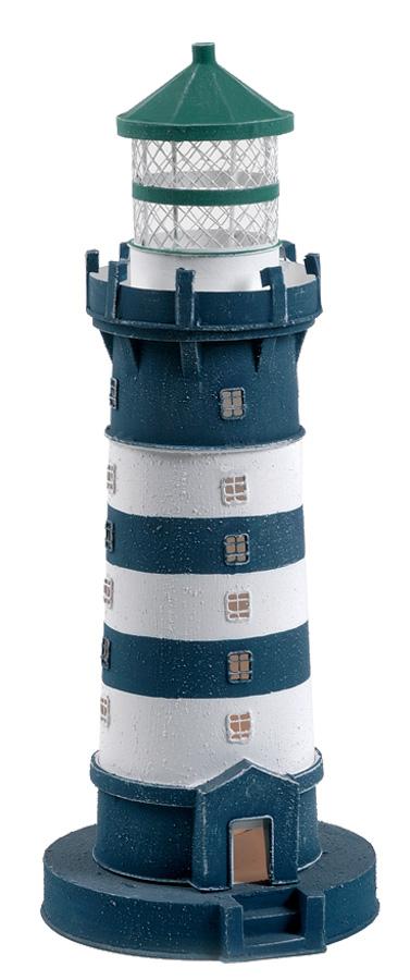 Lampada a Forma di Faro Bianco e Blu  con Luce ( alto 40 cm. ) di Artesania Esteban - Mondo Nautica 24