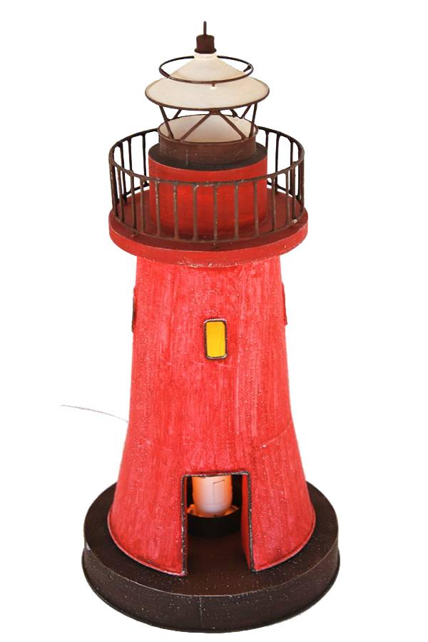 Faro Nautico con Lampada Castiglione della Pescaia ( alto 36.5 cm. ) di Artesania Esteban - Mondo Nautica 24