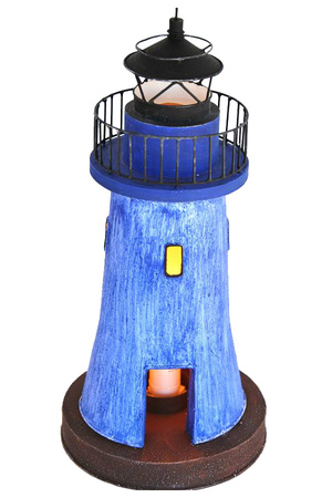 Faro Nautico con Lampada Castiglione della Pescaia Azzurro ( alto 36.5 cm. ) di Artesania Esteban - Mondo Nautica 24