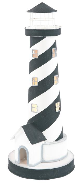 Lampada a Forma di Faro Con Casetta e Luce ( alto 40 cm. ) di Artesania Esteban - Mondo Nautica 24