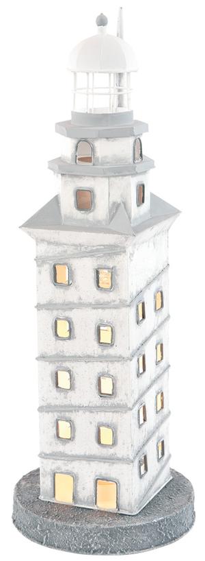 """Lampada a Forma di Faro """"La Torre di Ercole"""" con Luce ( alto 43 cm. ) di Artesania Esteban - Mondo Nautica 24"""