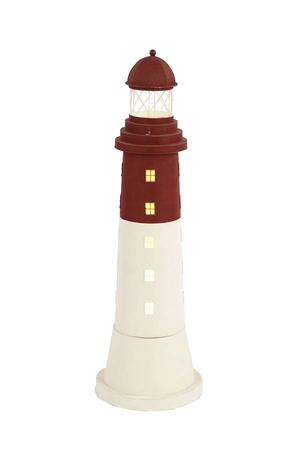 Lampada a Forma di Faro Bianco e Rosso  ( alto 95 cm. ) di Artesania Esteban - Mondo Nautica 24