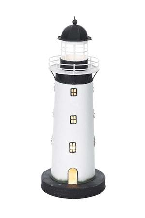 Lampada a Forma di Faro Bianco e Nero  ( alto 43 cm. ) di Artesania Esteban - Mondo Nautica 24