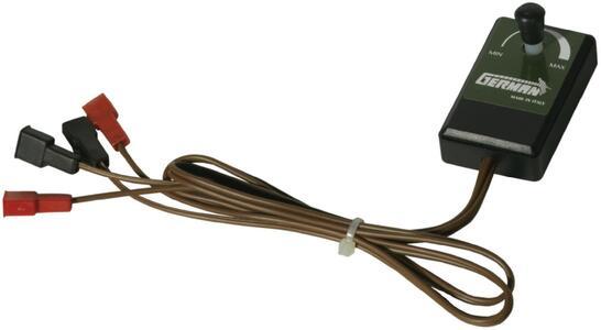 Variatore di velocità per alimentazione 6 o 12 volt., adatto per motori con assorbimento massimo 1 ah.