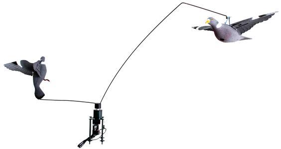 Giostra bassa per colombacci con due stampi e variatore di velocità