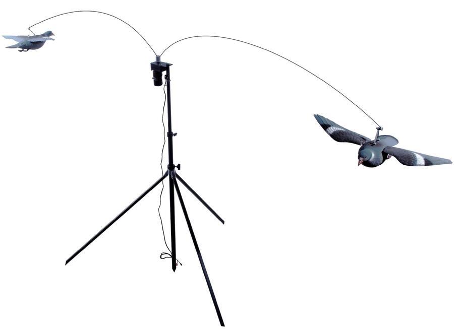 Giostra per colombacci con due stampi e variatore di velocità