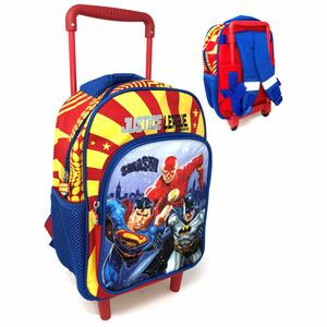 ZAINO TROLLEY ASILO JUSTICE LEAGUE ROSSO