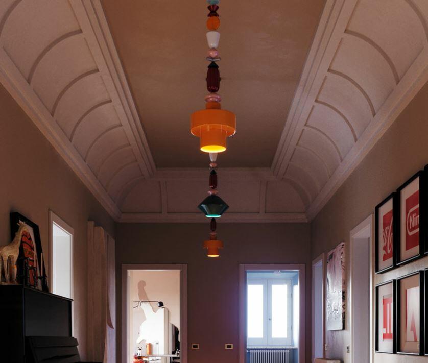 Lampada a Sospensione Lariat C2512 di Ferroluce in Ceramica, Varie Finiture - Offerta di Mondo Luce 24