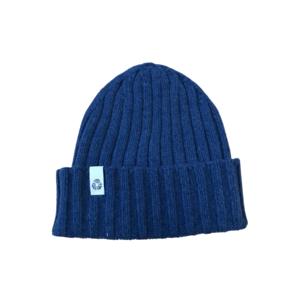 Cappello in cashmere blue
