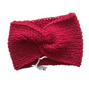 Fascia in lana e alpaca rosso