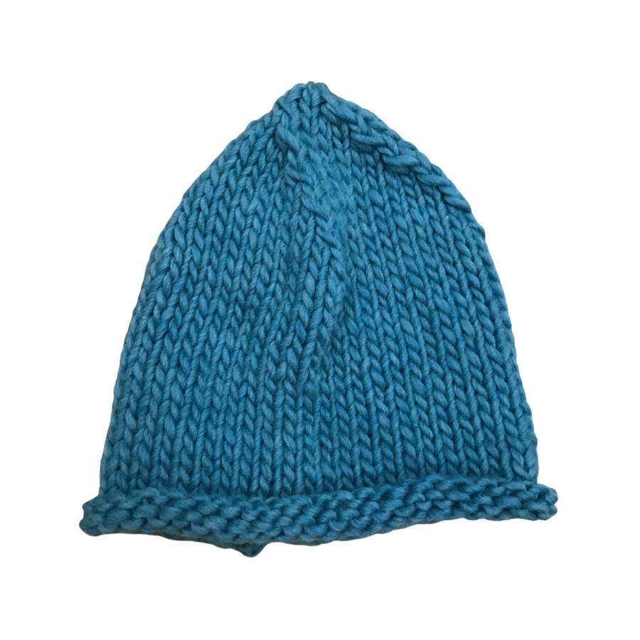 Cappello over in lana merino e alpaca verde smeraldo