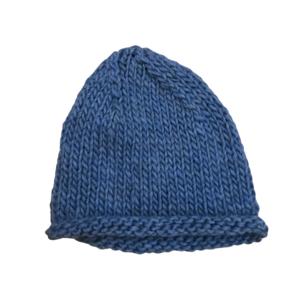 Cappello over in lana merino e alpaca violetto