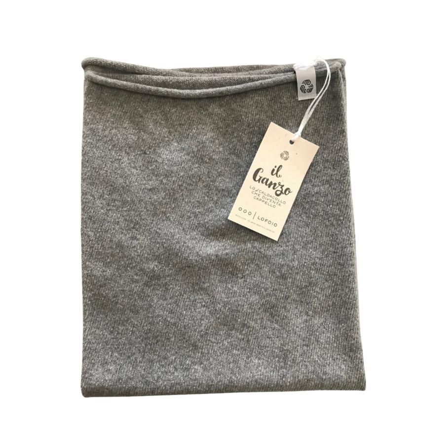 Scaldacollo in Cashmere rigenerato grigio - IL GANZO -