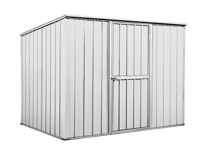 BOX IN ACCIAIO / CAPANNO PER ATTREZZI IN LAMIERA  2.60 x 1.85 x h1.92 m - BIANCO