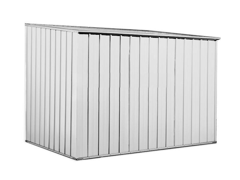 BOX IN ACCIAIO / CAPANNO PER ATTREZZI IN LAMIERA  2.60 x 1.85 x h1.92 m - BIANCO BY MYGARDEN