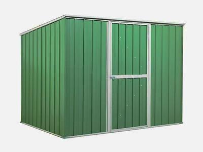 BOX IN ACCIAO / CAPANNO PER GLI ATTREZZI 260X185X192 - COLORE VERDE