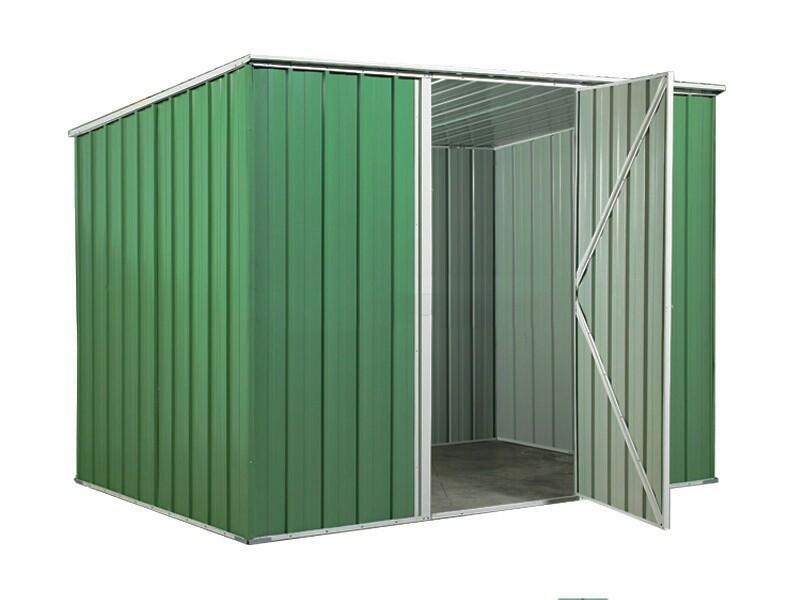BOX IN ACCIAO / CAPANNO PER GLI ATTREZZI 260X185X192 - COLORE VERDE BY MYGARDEN