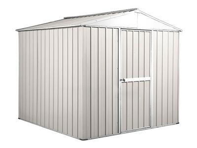 BOX IN ACCIAO / CAPANNO PER GLI ATTREZZI CM 275 x 175  x 215 H - COLORE BIANCO  BY MYGARDEN
