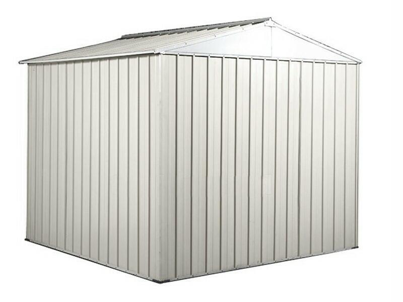 BOX IN ACCIAO / CAPANNO PER GLI ATTREZZI CM 275 x 175  x 215 H - COLORE BIANCO