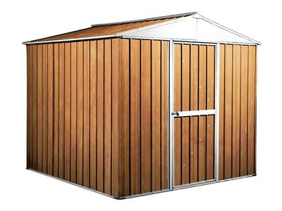 BOX IN ACCIAO / CAPANNO PER GLI ATTREZZI CM 275 x 175 x 215 H - COLORE MARRONE