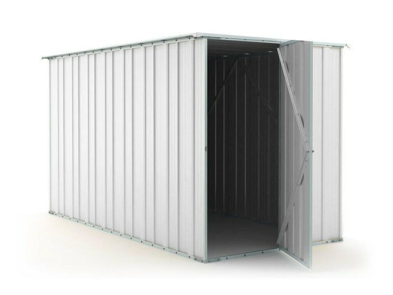 BOX IN ACCIAO / CAPANNO PER GLI ATTREZZI CM 175X307X182H - COLORE BIANCO BY MYGARDEN