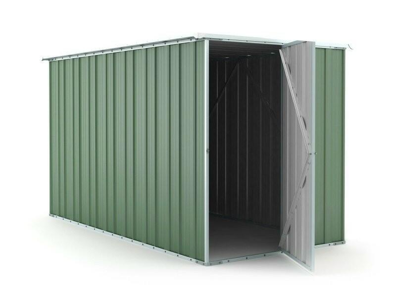 BOX IN ACCIAO / CAPANNO PER GLI ATTREZZI CM 175X307X182H - COLORE VERDE BY MYGARDEN