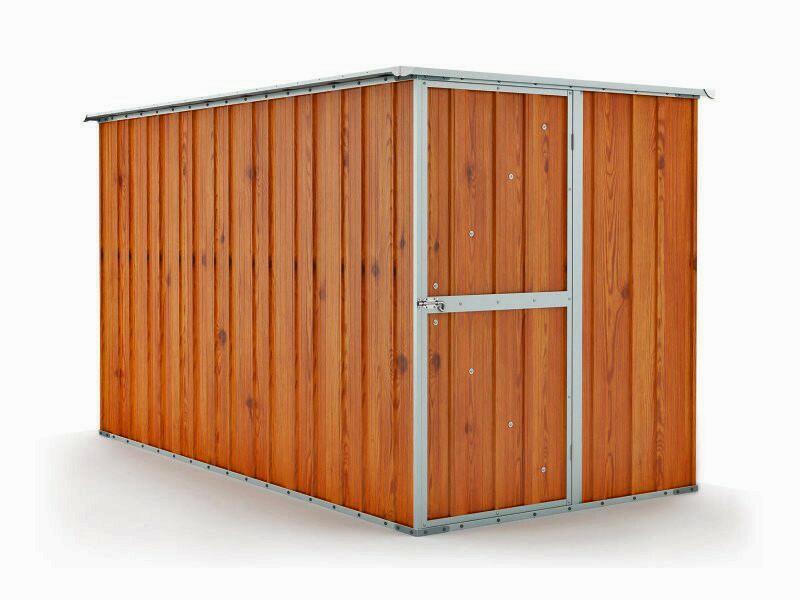 BOX IN ACCIAO / CAPANNO PER GLI ATTREZZI CM 175X307X182H - COLORE MARRONE