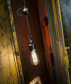 Lampada a Sospensione Vintage C660-1 di Ferroluce in Ferro Anticato Corten e Ceramica, Varie Finiture - Offerta di Mondo Luce 24