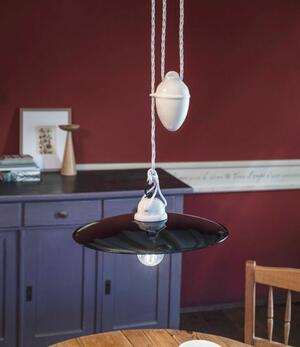 Lampada a Sospensione con Saliscendi Potenza C050 in Ceramica di Ferroluce - Offerta di Mondo Luce 24