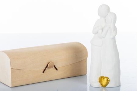 Sposi grande 18 cm cuore oro ,  collezione Cuoredoro