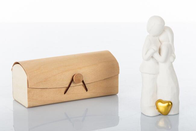 Sposi piccoli 14 cm cuore oro ,  collezione Cuoredoro