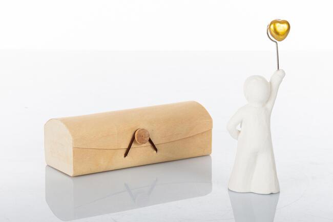 Bimbo memoclip con  cuore oro ,  collezione Cuoredoro