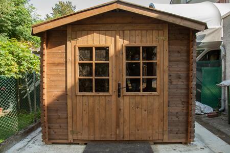 Casetta in legno impregnata in autoclave Like Luxury 246 x 200 - 19mm - Con pavimento - Trasporto incluso