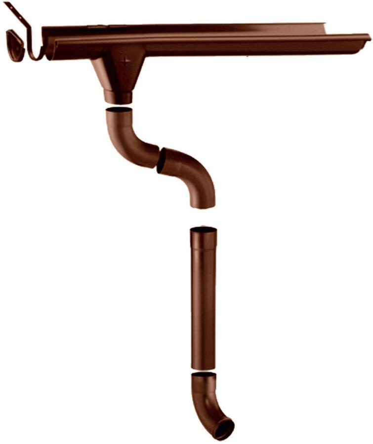 Grondaie in lamiera preverniciata per casette in legno con falde fino da cm.260 a cm.300
