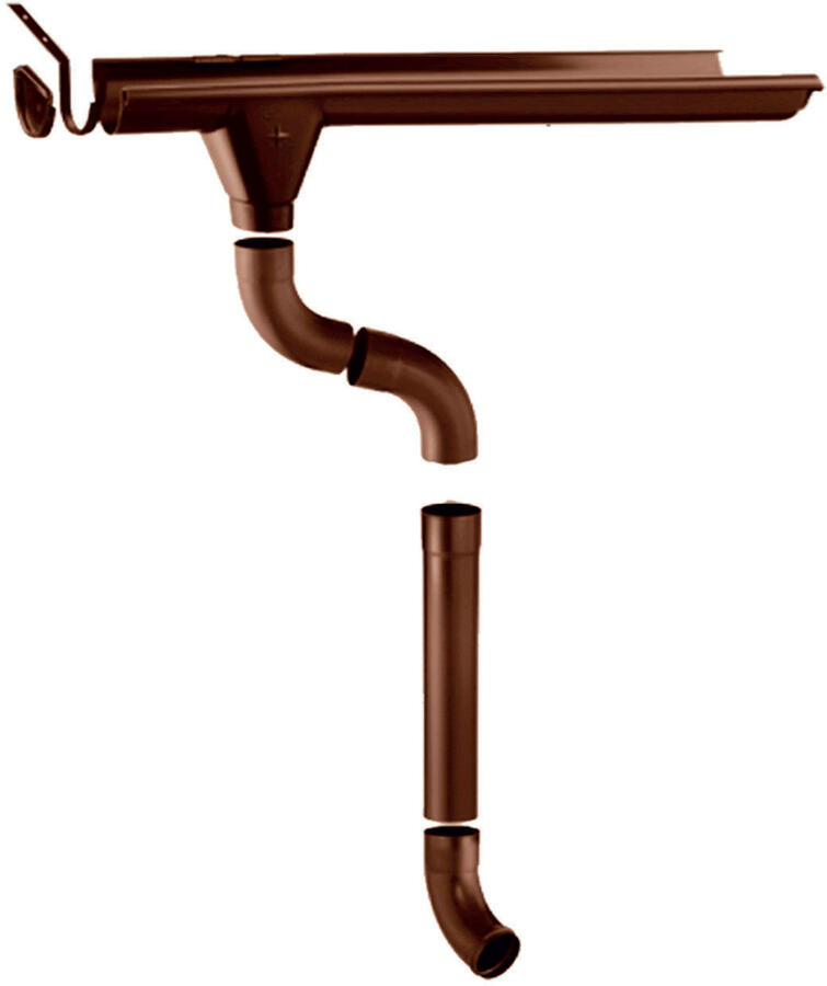 Grondaie in lamiera preverniciata per casette in legno con falde fino da cm.350 a cm.390