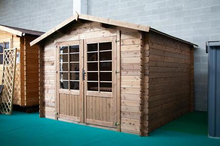 Casetta in legno impregnata in autoclave Space 300 x 300 - 28mm - Senza pavimento - Trasporto incluso