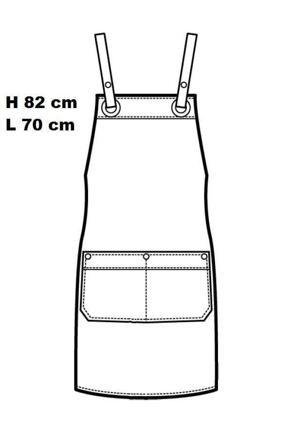 Grembiule Milford black jeans con inserti ecopelle