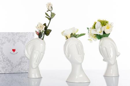 Vaso assortito viso Modigliani ,  collezione Modigliani