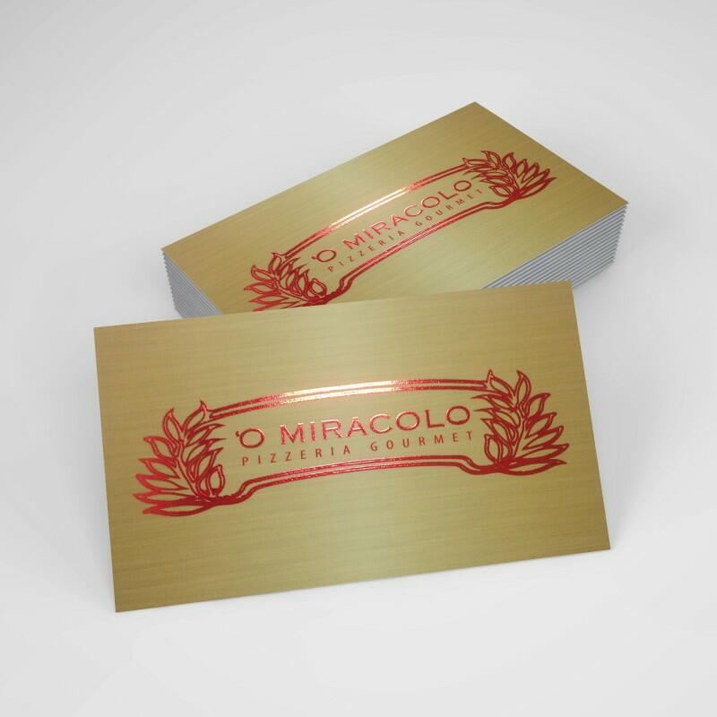 Biglietti da Visita Red Ras (cm 8,5 x cm 5,5)