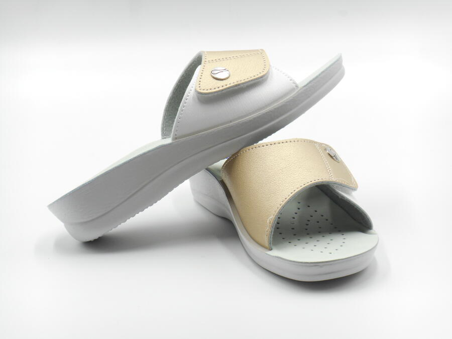 Inblu VR000045 ciabatta confort chiusura a strappo platino