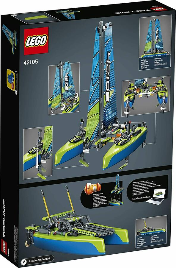 Catamarano a vela e da Corsa - Lego Technic 42105 - 8+ anni