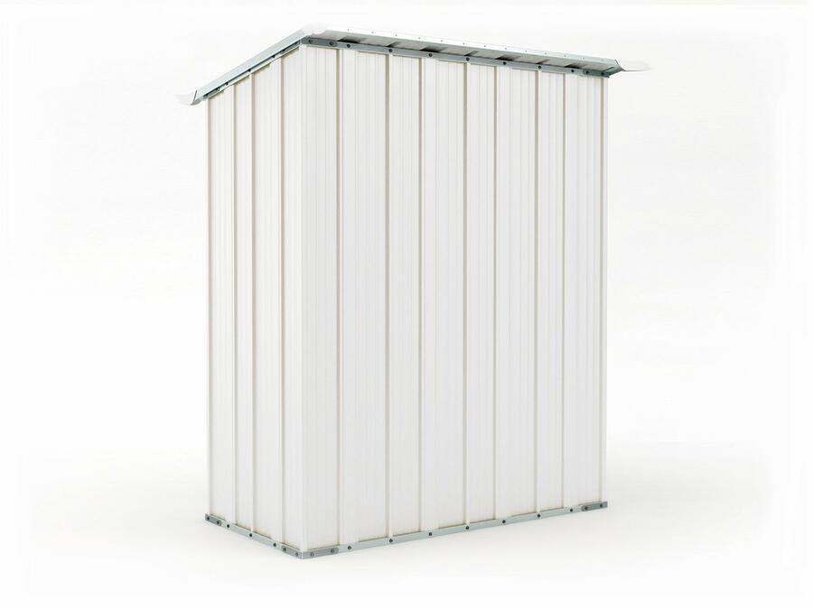 BOX IN ACCIAIO / CAPANNO PER ATTREZZI CM 155 X 100 X 192 H - COLORE BIANCO