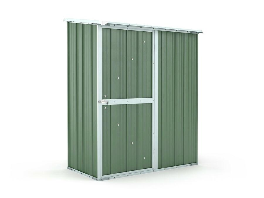 BOX IN ACCIAIO / CAPANNO PER ATTREZZI CM 155 X 100 X 192 H - COLORE VERDE BY MYGARDEN